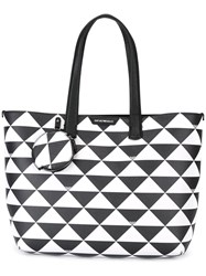 Emporio Armani Triangles Tote Black