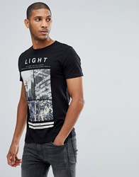 Tom Tailor T Shirt With City Print In Black 2999 Black