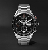 Tag Heuer Carrera Automatic Chronograph 43Mm Polished Steel Watch Black