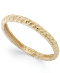 Macy's 14K Gold Textured Cable Ring