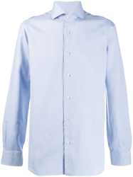Barba Slim Fit Buttoned Shirt Blue