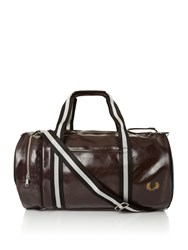 Fred Perry Classic Barrel Bag Chocolate