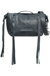 Mcq By Alexander Mcqueen Textured Leather Shoulder Bag Storm Blue
