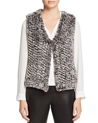 Aqua Knit Faux Fur Vest Grey Multi