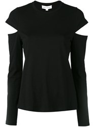 Robert Rodriguez Slit Longsleeves T Shirt Women Cotton M Black