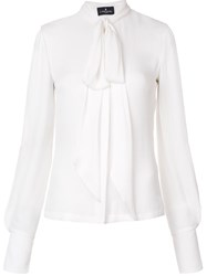 J. Mendel Split Sleeve Blouse White