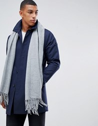 Tom Tailor Woven Scarf In Grey