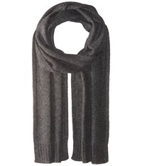 Vince Cashmere Scarf Heather Carbon Scarves Gray