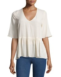 On The Road Jules Back Cutout Top Tan