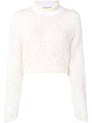 Alexander Wang T By Chunky Knit Sweater White