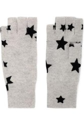 Autumn Cashmere Printed Gloves Light Gray