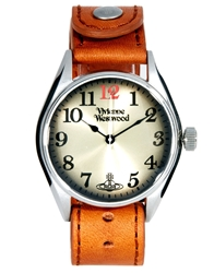 Vivienne Westwood Classic Leather Strap Watch Tan