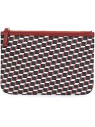 Pierre Hardy Cube Design Clutch Red