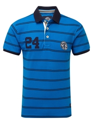 Tog 24 Comet Stripe Short Sleeve Polo Shirt Blue