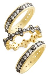 Freida Rothman Set Of 3 Stacking Rings Special Purchase Gold Silver