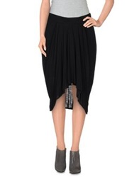 Helmut Lang Knee Length Skirts Black