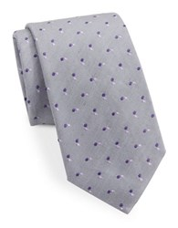 Vince Camuto Dotted Silk Blend Tie Gray Purple