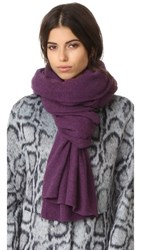 White Warren Cashmere Travel Wrap Spectral Violet Heather