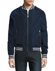 Original Penguin Reversible Varsity Jacket Dark Sapphire
