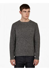 A.P.C. Grey Chunky Knit Cashmere Blend Sweater