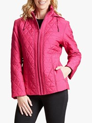 Four Seasons Quilted Jacket Raspberry Pink