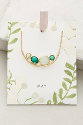 Anthropologie Birthstone Necklace Green