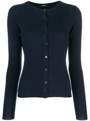 Aspesi Cashmere Fitted Cardigan Blue