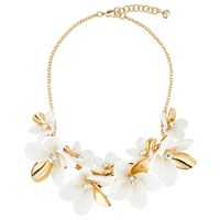 Ted Baker Bao Large Blossom Statement Necklace Gold White