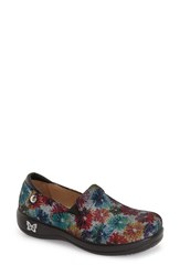 Women's Alegria 'Keli' Embossed Clog Bloomies Leather