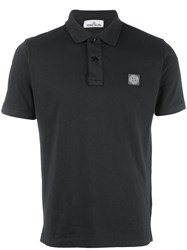 Stone Island Logo Patch Polo Shirt Grey