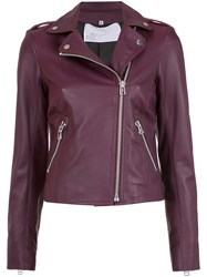 Spacenk Nk Leather Biker Jacket Pink And Purple
