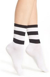 Women's Nordstrom Rugby Stripe Crew Socks White