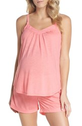Belabumbum Summer Maternity Nursing Short Pajamas Peach