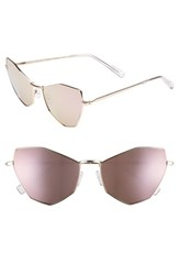 Kendall Kylie Liara 57Mm Cat Eye Sunglasses Light Gold Rose Gold Flash Light Gold Rose Gold Flash