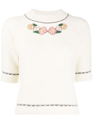 Vilshenko Floral Embroidery Knit Jumper 60