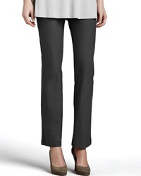 Eileen Fisher Washable Crepe Boot Cut Pants Petite Graphite