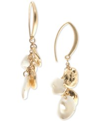 Lonna And Lilly Gold Tone Imitation Pearl Threader Earrings
