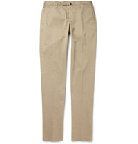 Incotex Four Season Slim Fit Cotton Blend Chinos Neutrals
