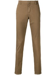 Dondup Slim Fit Trousers Nude And Neutrals