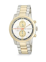 Ted Baker Two Tone Stainless Steel Multifunction Watch Silver Gold