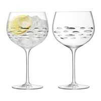 Lsa International Balloon Gin Glass Shoal Cut Set Of 2
