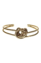 Sterling Forever Burnished Cable Knot Cuff Metallic
