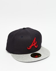 New Era 59Fifty Atlanta Braves Fitted Cap Black