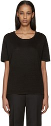 Earnest Sewn Black Linen Julia T Shirt