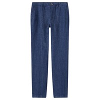 Jigsaw Linen Double Face Trouser Navy