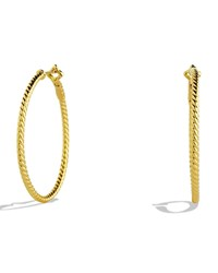 David Yurman Cable Classics Hoop Earrings In Gold