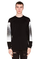 Stampd Dresdon L S With Concrete Print Black And White