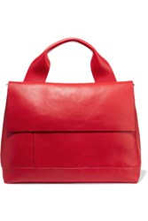 Marni Halo Pod Leather Tote Red