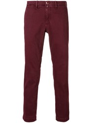 Jacob Cohen Handkerchief Slim Fit Chinos Red