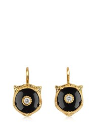 Gucci 18Kt Gold Marche Des Merveilles Earrings Gold Black